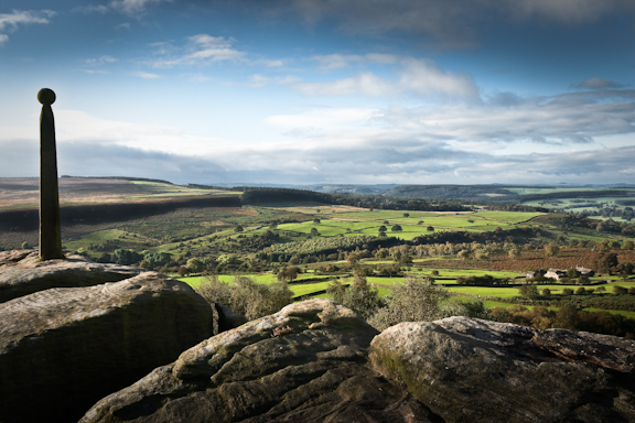 The view from Birchen's Edge.