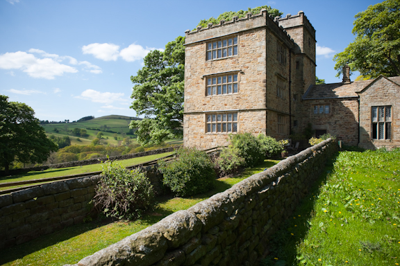 North Lees Hall. A great place to stay. Just below Stanage Edge.