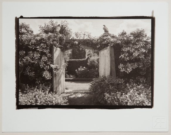 The Garden Gate. A Platinum toned Salt Print